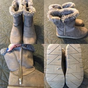 Airwalk Fur Lined Side Zip Mid Rise Boot